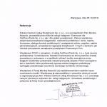 Referencje dla biura księgowego PCUD wystawione przez CelChemTrade sp. z o.o.